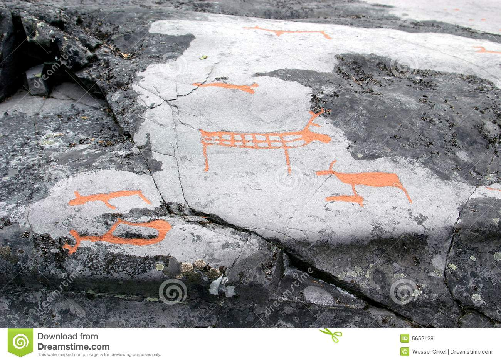 утес Норвегии carvings alta