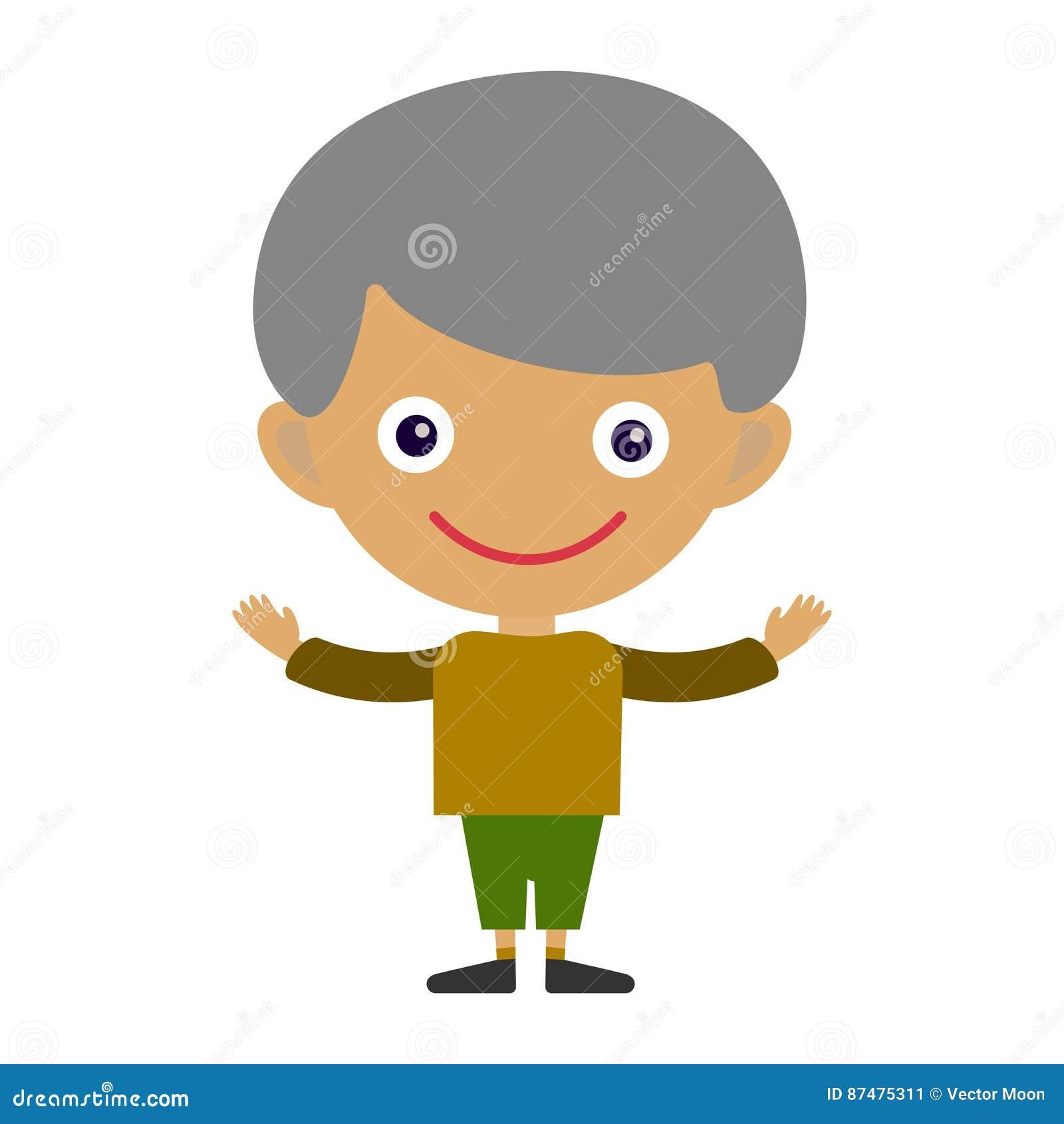 Утеха персонажа из мультфильма подростка счастливого молодого выражения потехи портрета мальчика милая и маленького ребенка happy