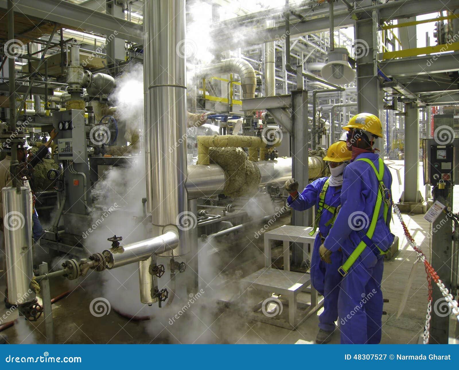 Утечка газа в масле & газовом заводе