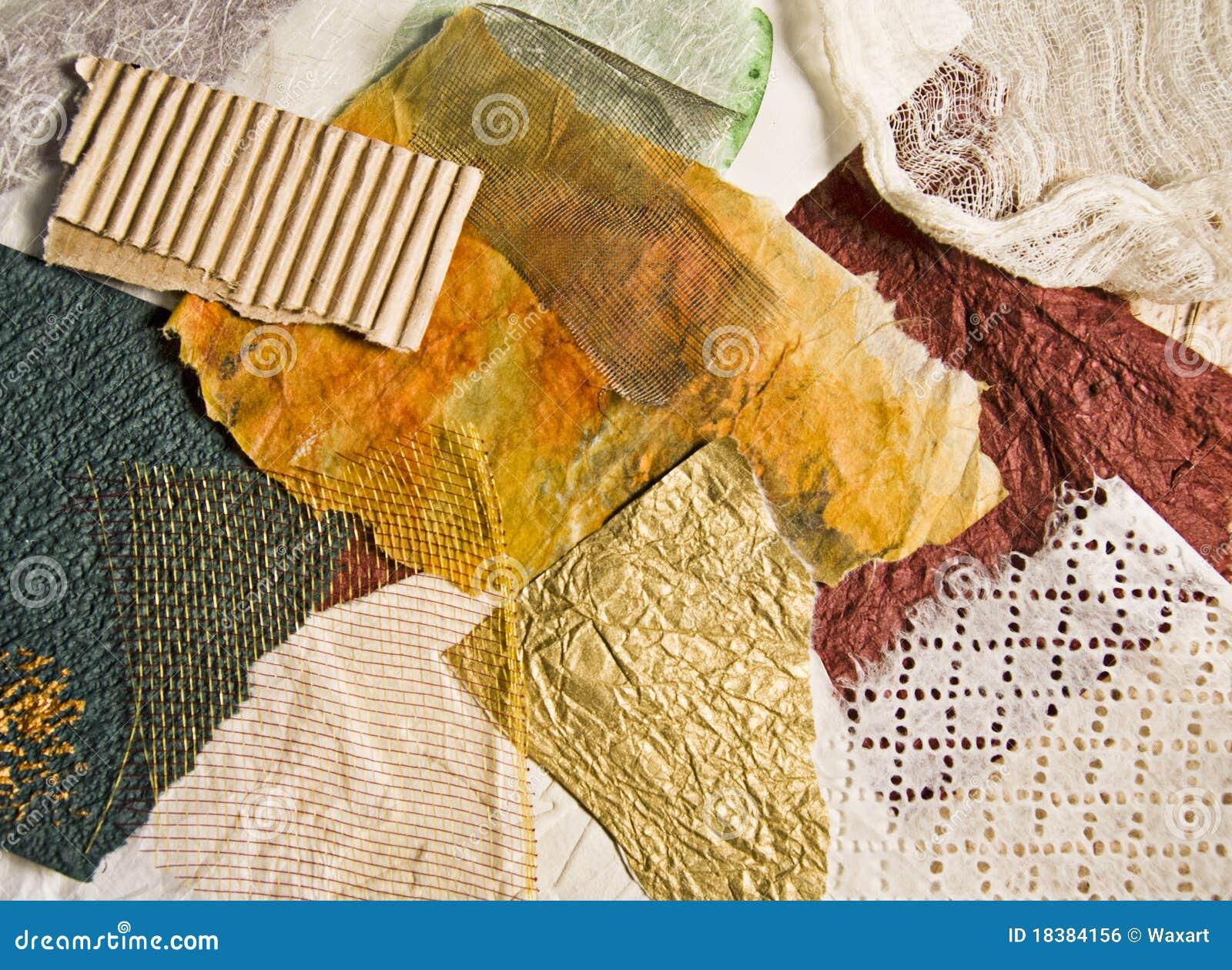 утили покрашенные тканью бумажные