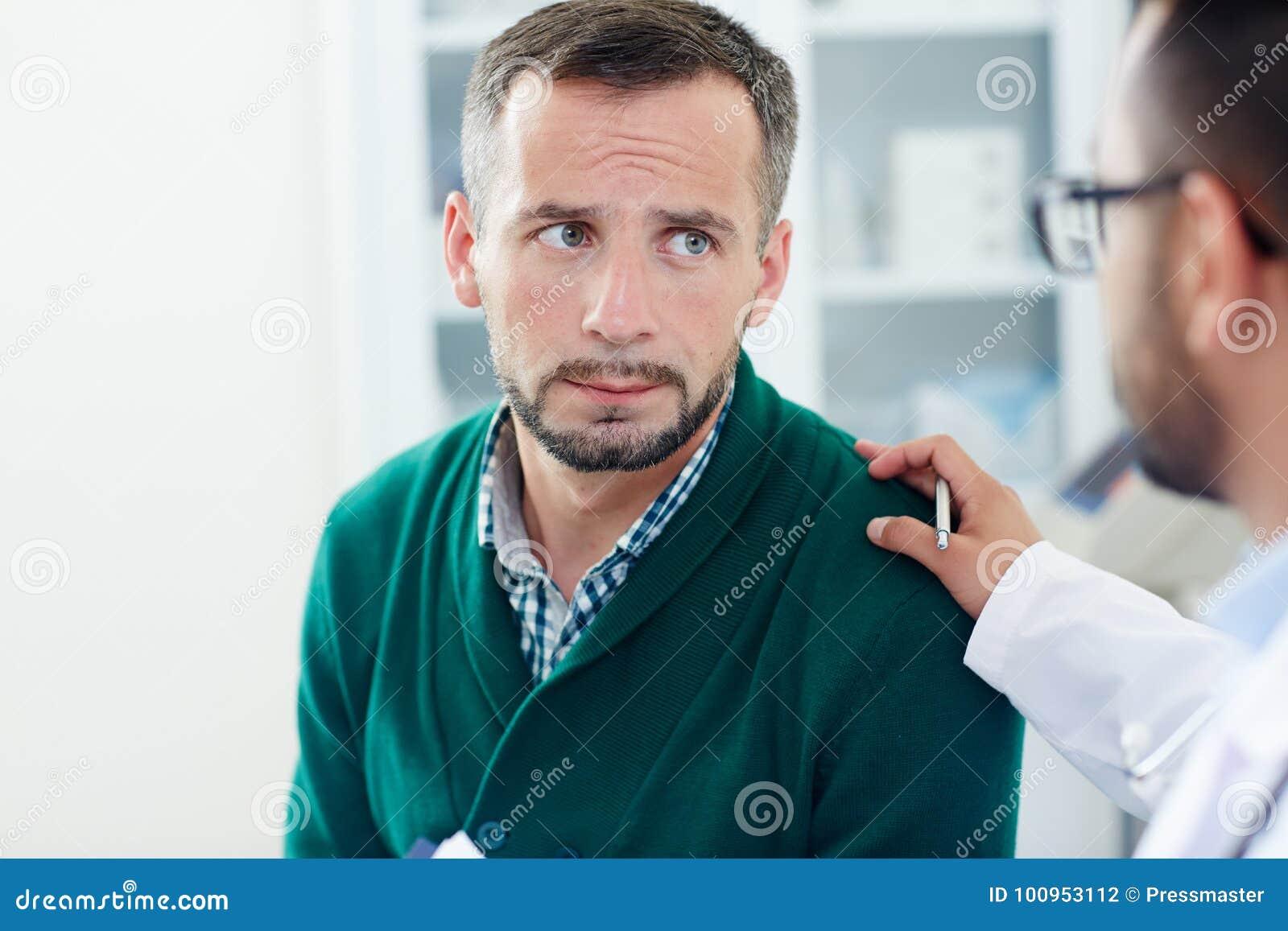Утихомиривать вниз расстроенного пациента