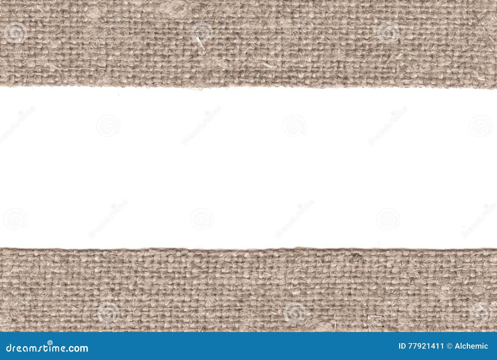Уток ткани, заплата ткани, коричневый холст, античный материал, ретро-введенная в моду предпосылка