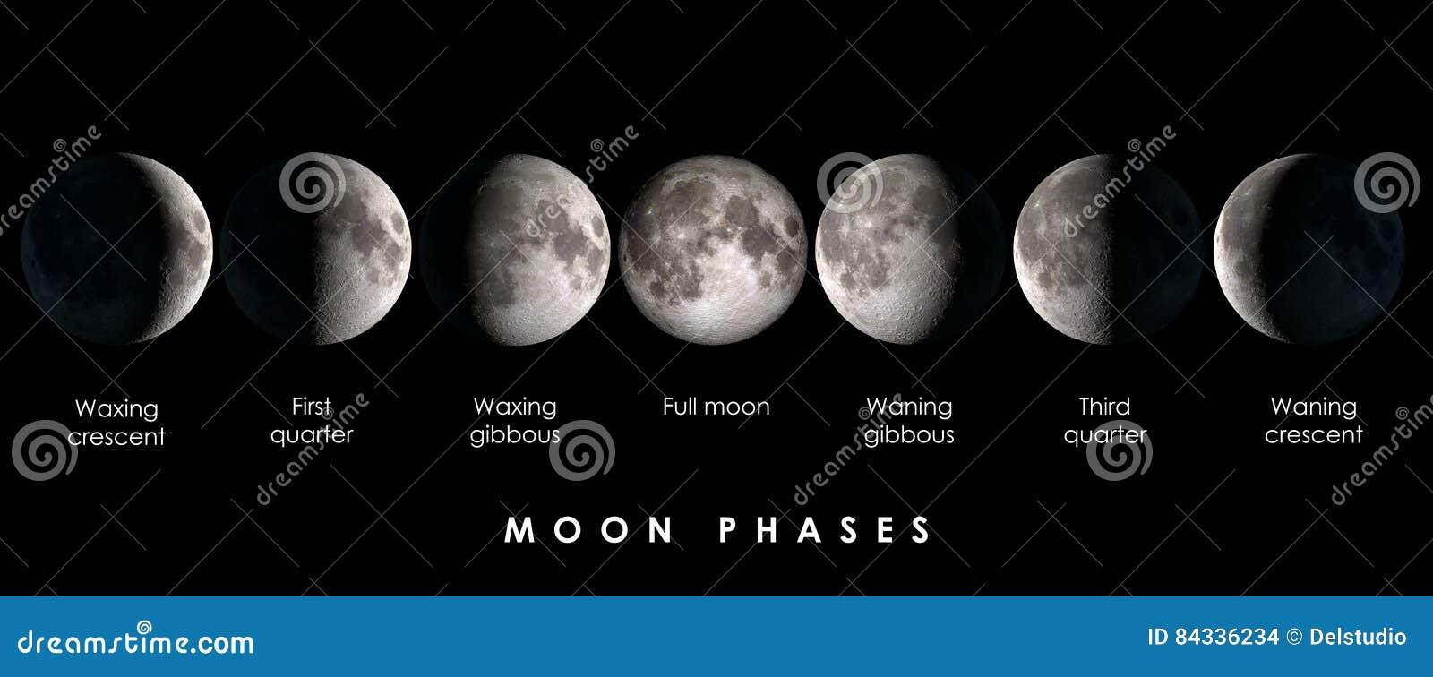 Участки луны с текстом