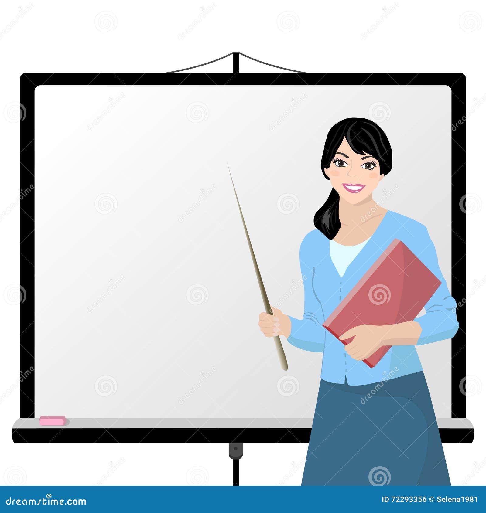 Download Учитель и взаимодействующая доска Иллюстрация штока - иллюстрации насчитывающей двухсторонн, коллеж: 72293356