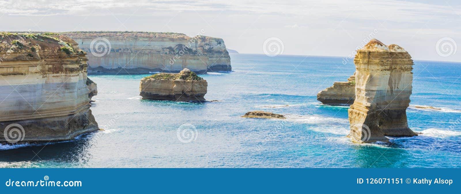 Ущелье озера Panarama около 12 апостолов в Виктория Австралии