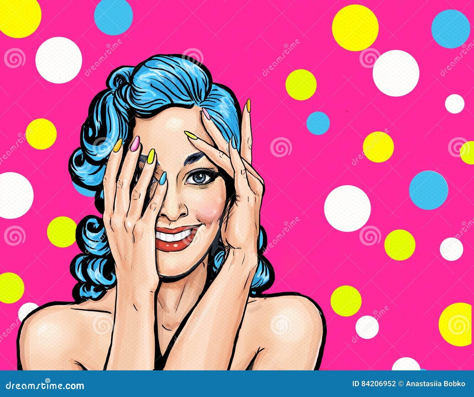 удивленный усмехаться девушки Шуточная женщина девушка сексуальная Изумленная женщина