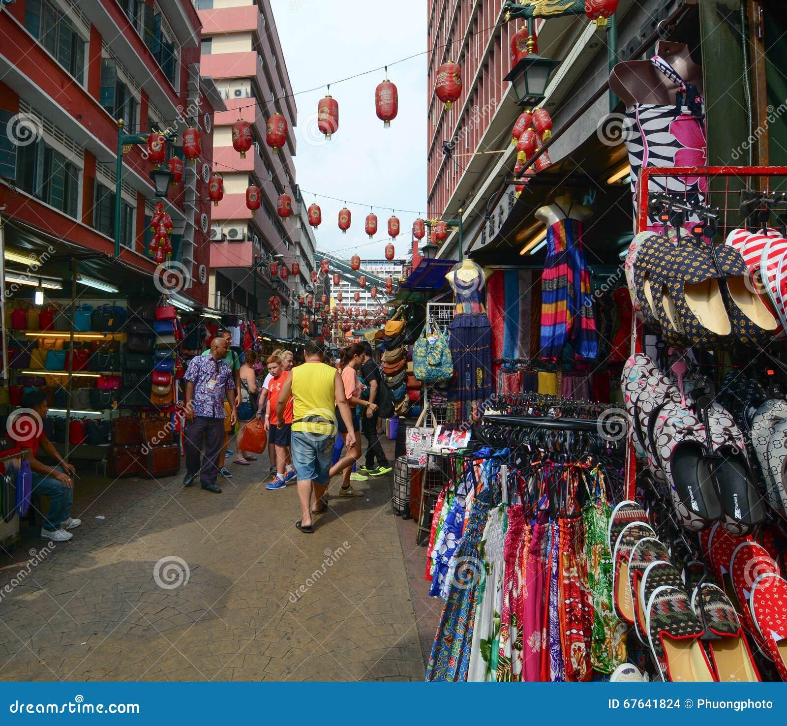 Улица в Чайна-тауне, Сингапуре