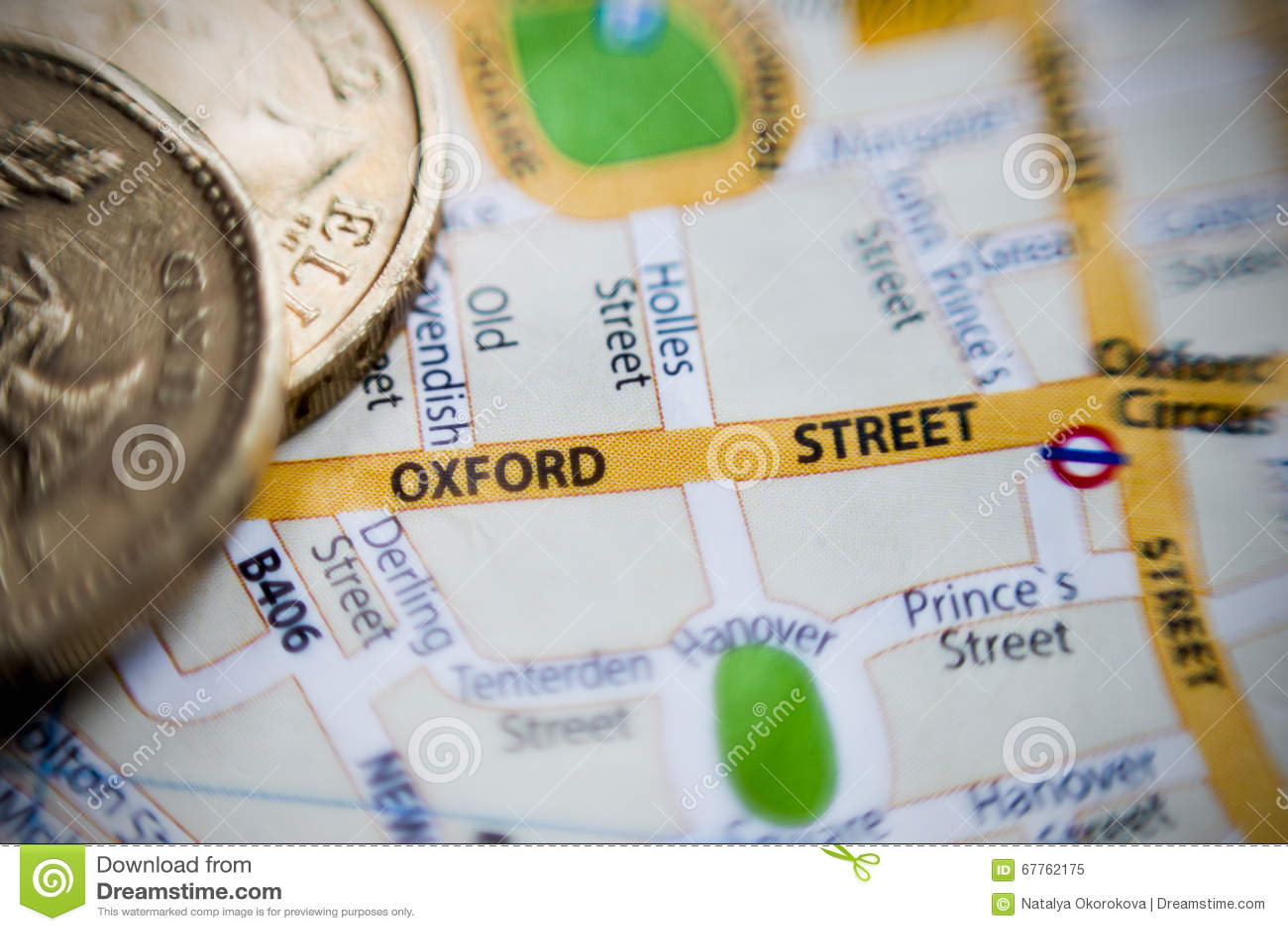 Улица Оксфорда Карта Лондона, Великобритании