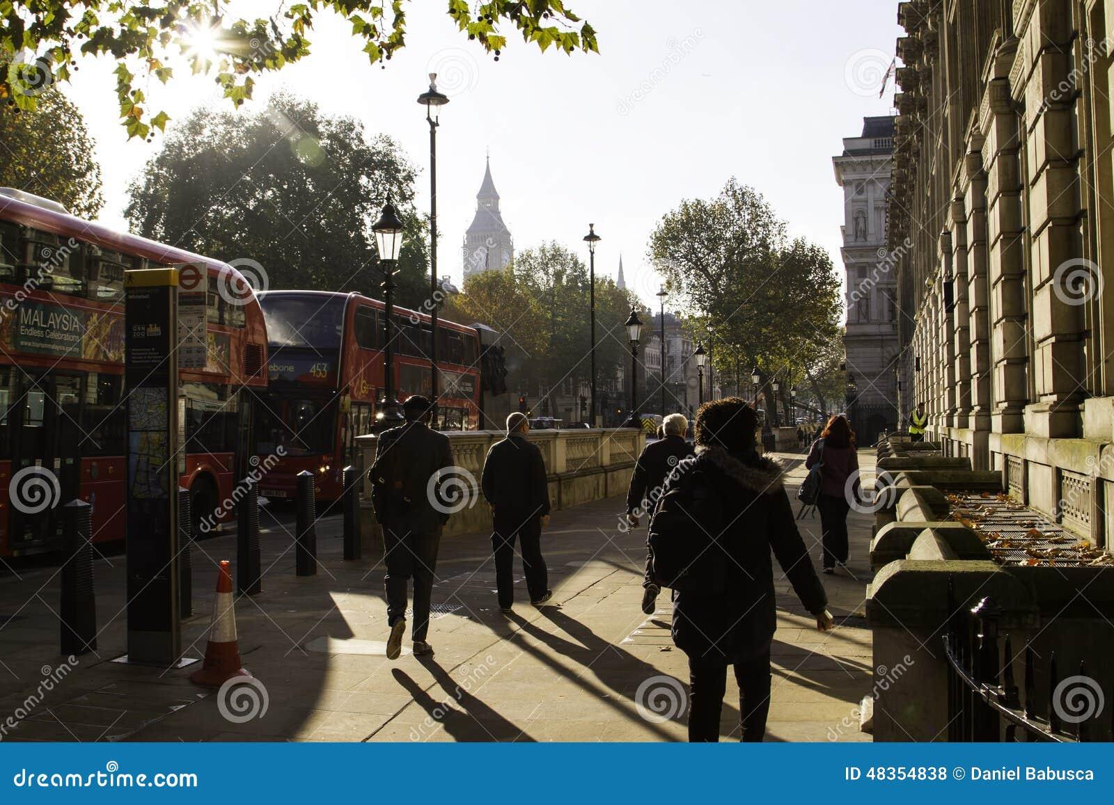 Улицы Лондона в осени