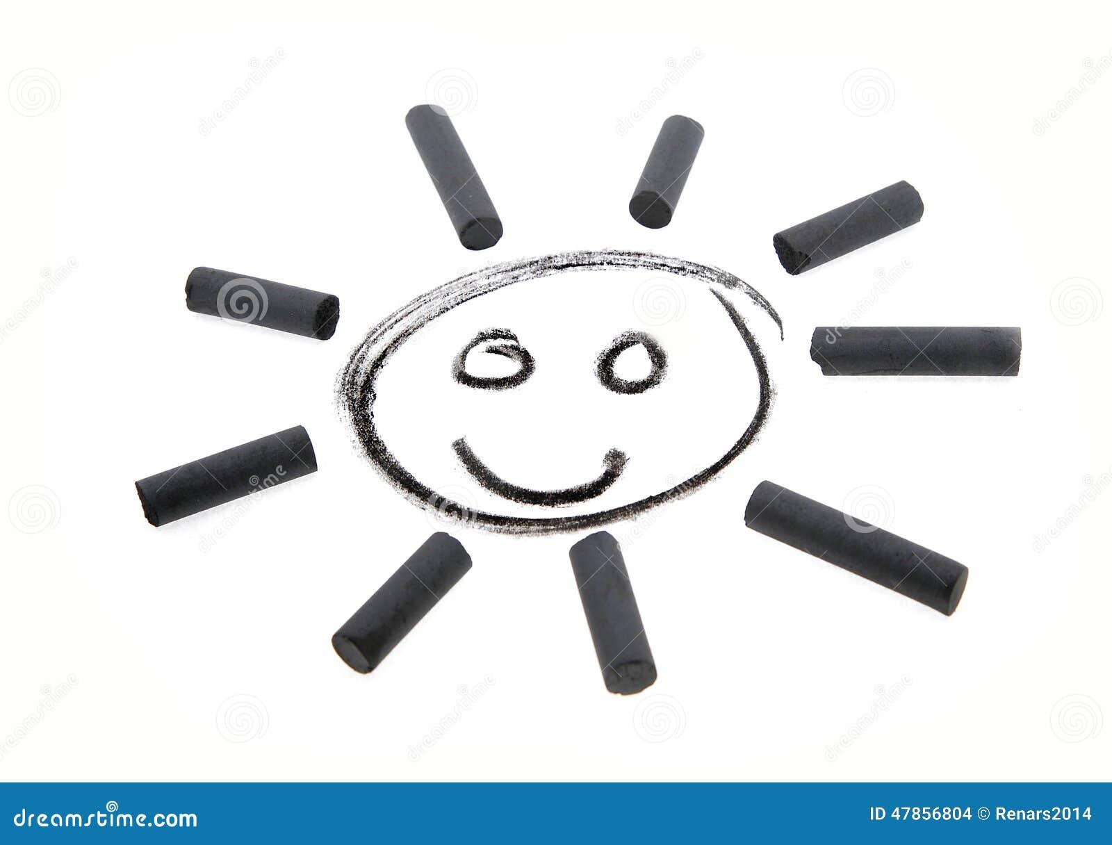 Улыбка угля чертежа Солнця