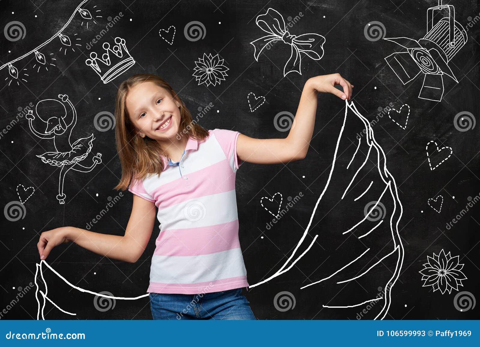 Фантазия маленькой девочки быть звездой