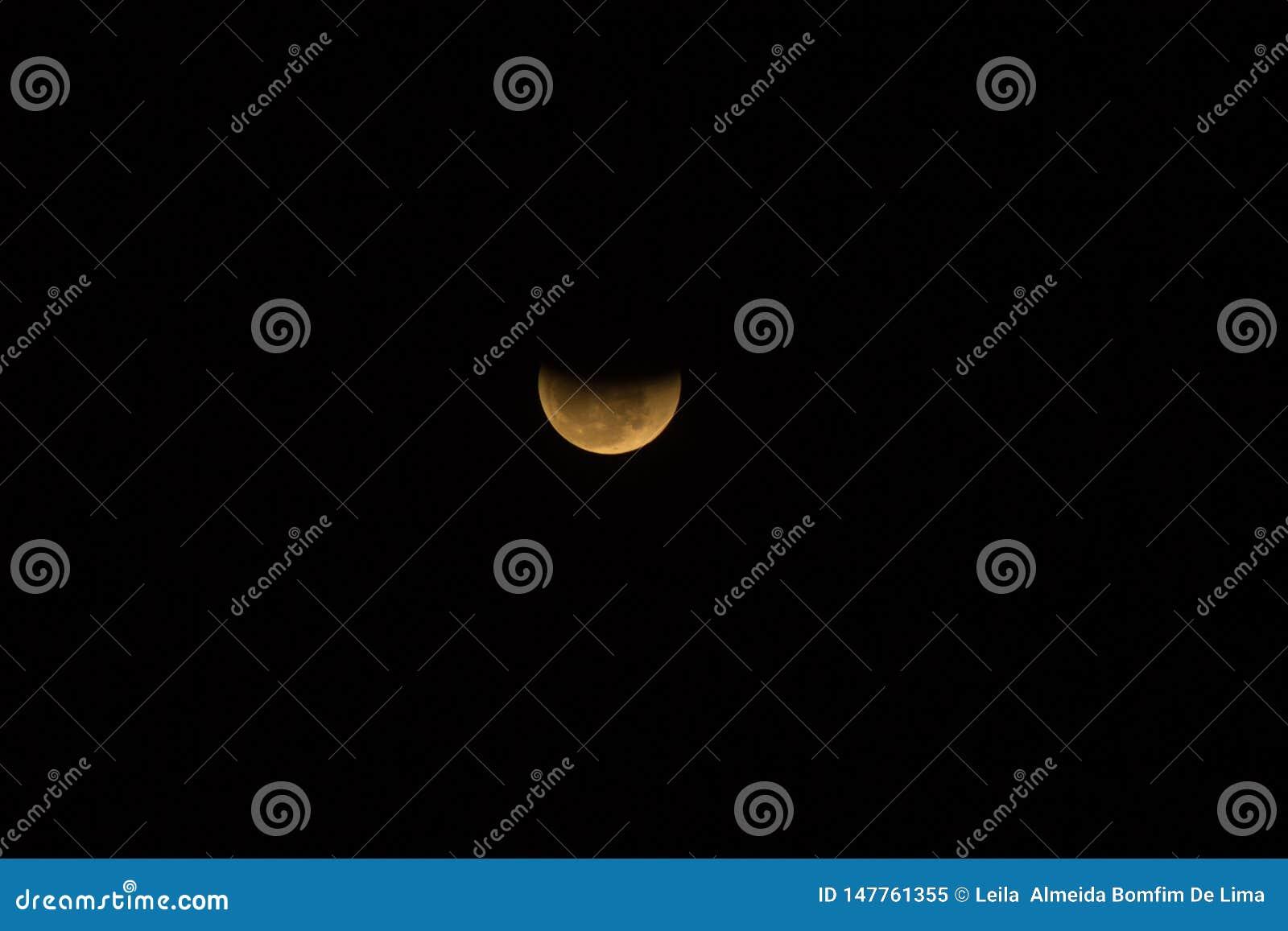 Фантастическое лунное затмение