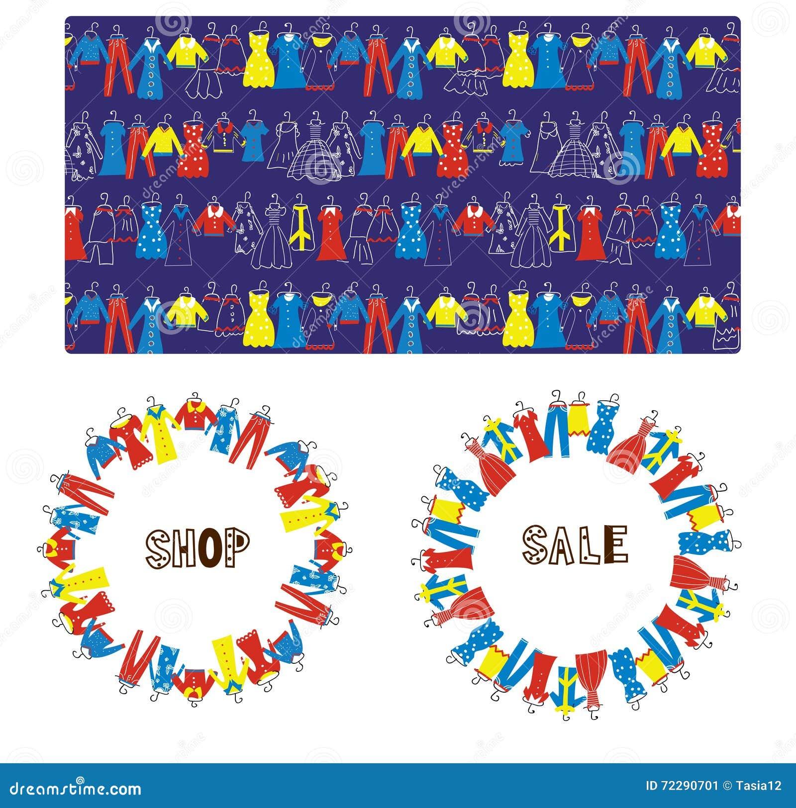 Download Фасонируйте знамена, рамку и картину продажи портноя Иллюстрация вектора - иллюстрации насчитывающей модель, бобра: 72290701