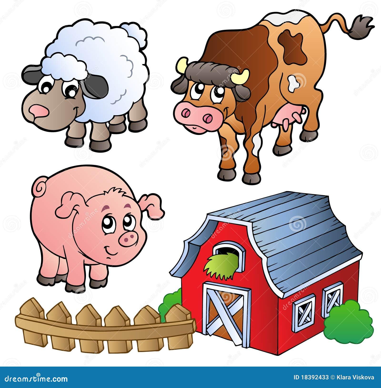 ферма собрания животных различная