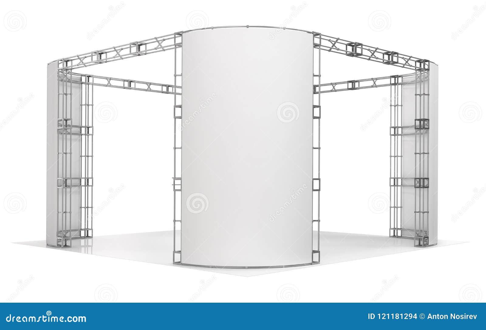 Ферменная конструкция торговой выставки, павильон выставки иллюстрация 3d
