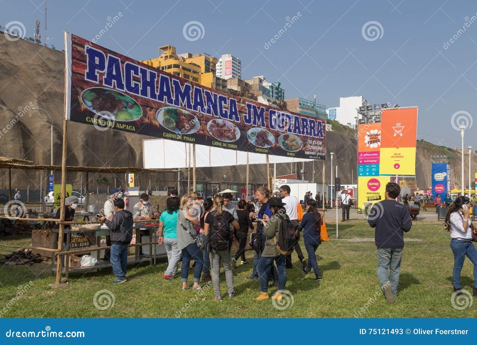 Фестиваль 2015 еды Mistura в Лиме, Перу