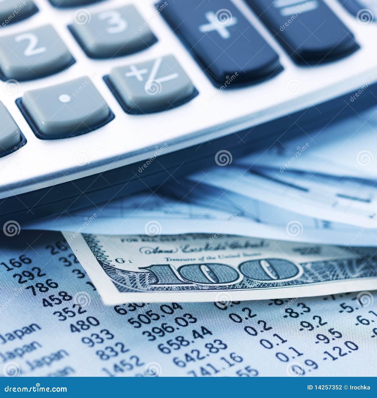 Финансы, деньги & чалькулятор