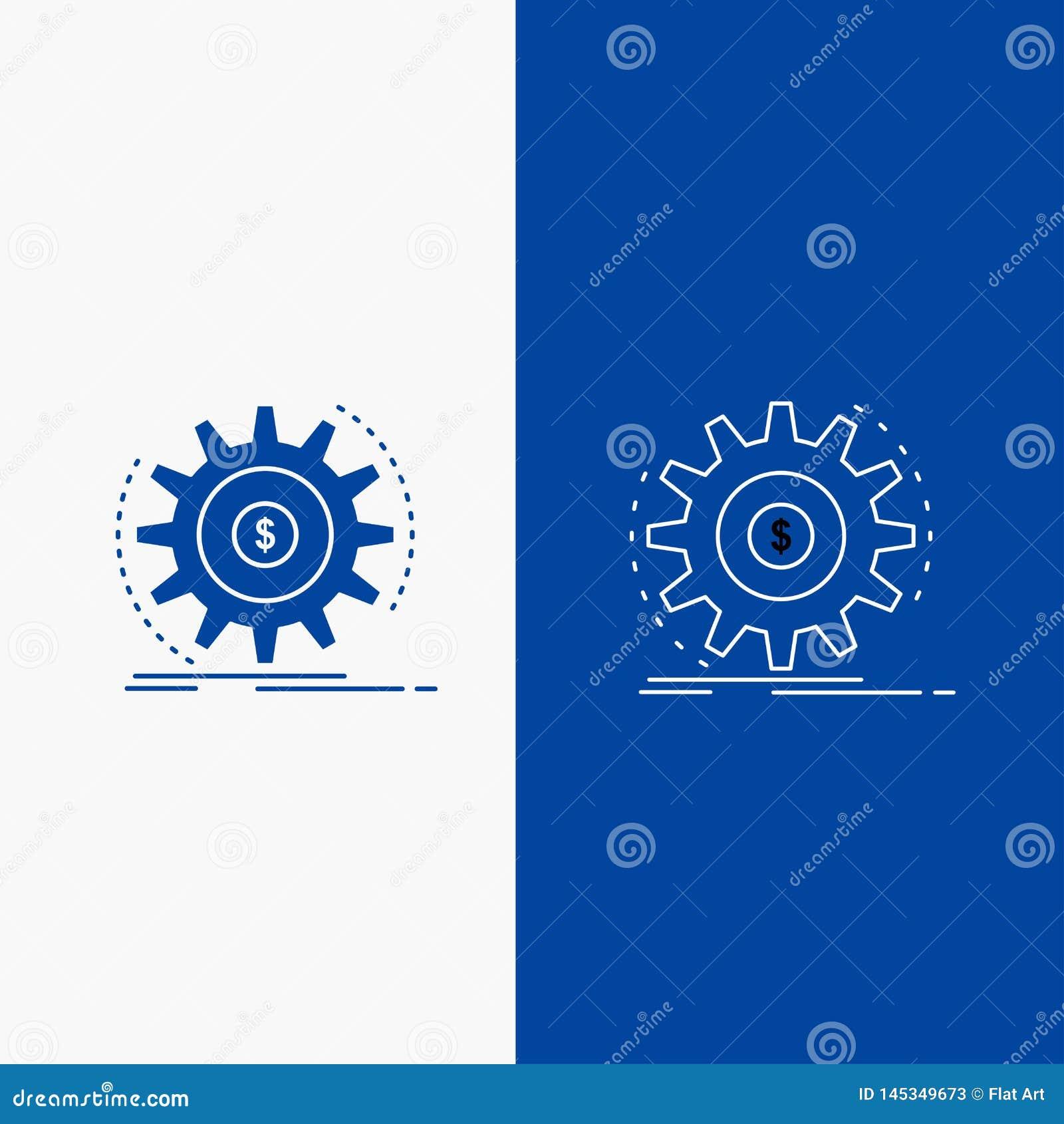 Финансы, подача, доход, делать, кнопка сети линии денег и глифа в знамени голубого цвета вертикальном для UI и UX, вебсайт или че