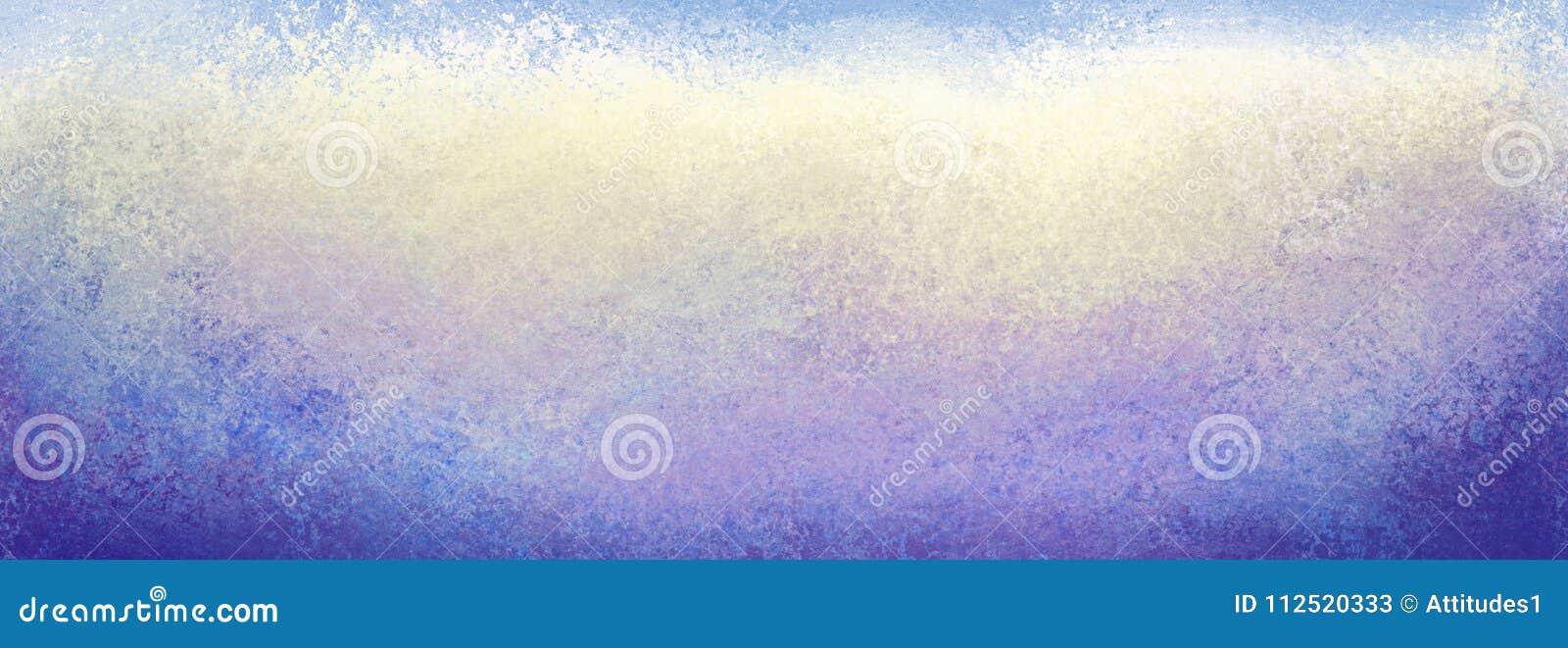 Фиолетовая Grunge голубая желтая белая и голубая предпосылка с сериями текстуры, темных границ и светлого центра