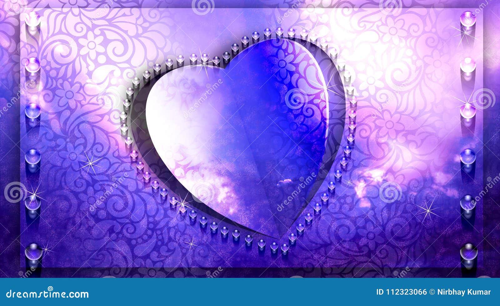 Фиолетовый дизайн отрезка бумаги сердца