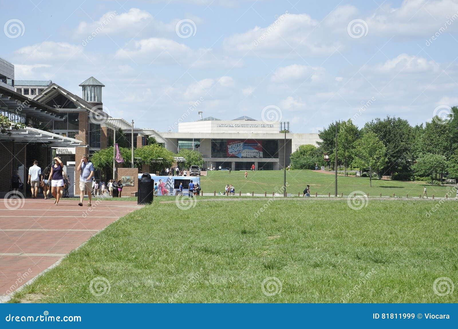 Филадельфия, 4-ое августа: Национальный центр конституции от Филадельфии в Пенсильвании