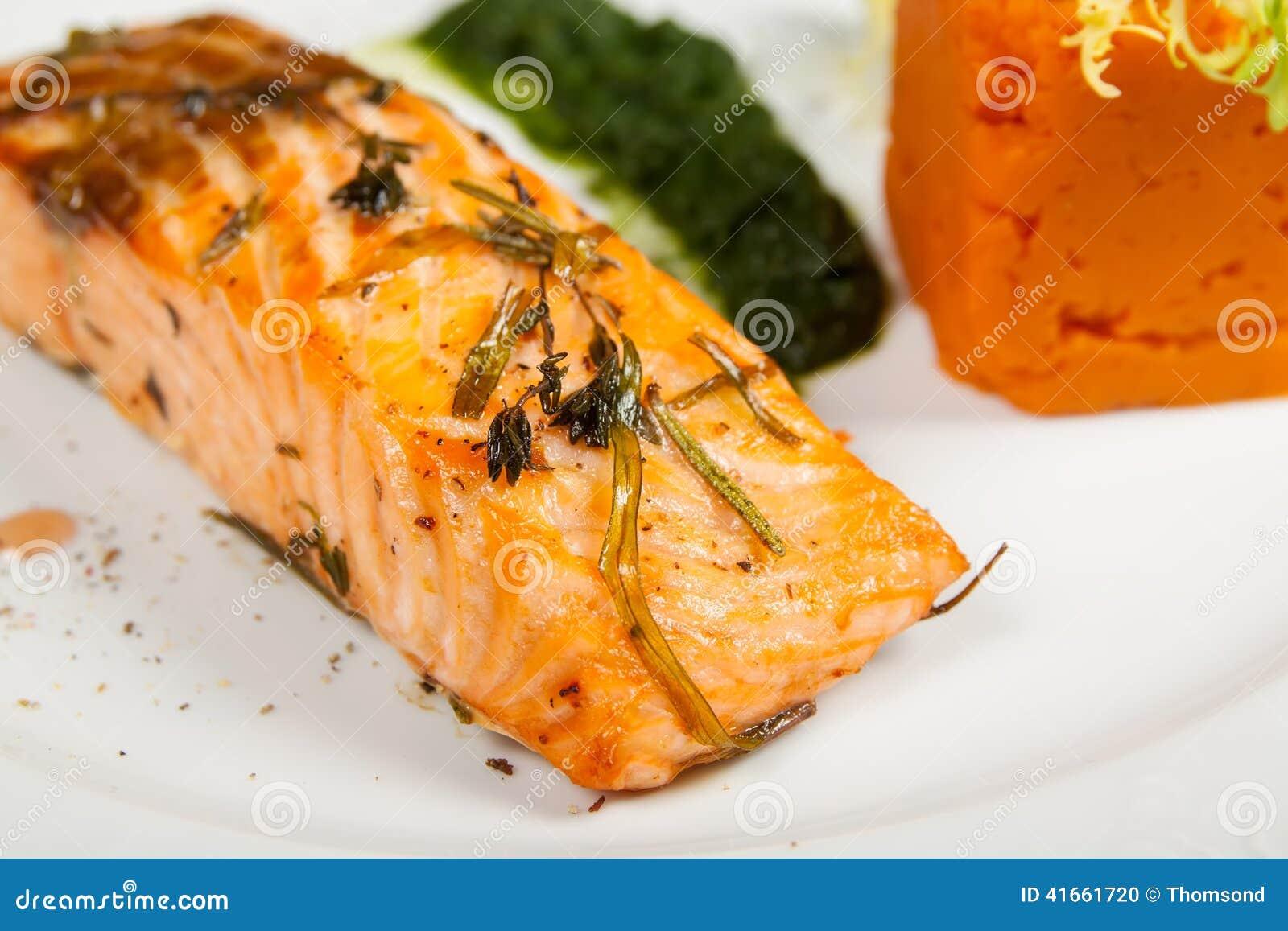 Филе salmon крупного плана