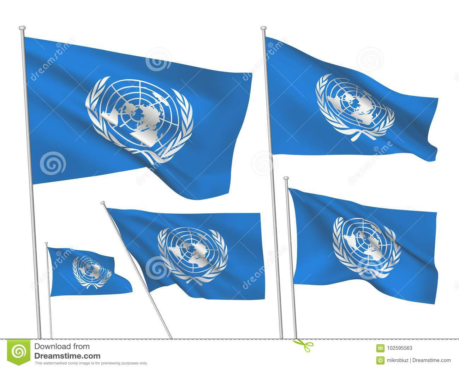 Флаги вектора организации Организации Объединенных Наций