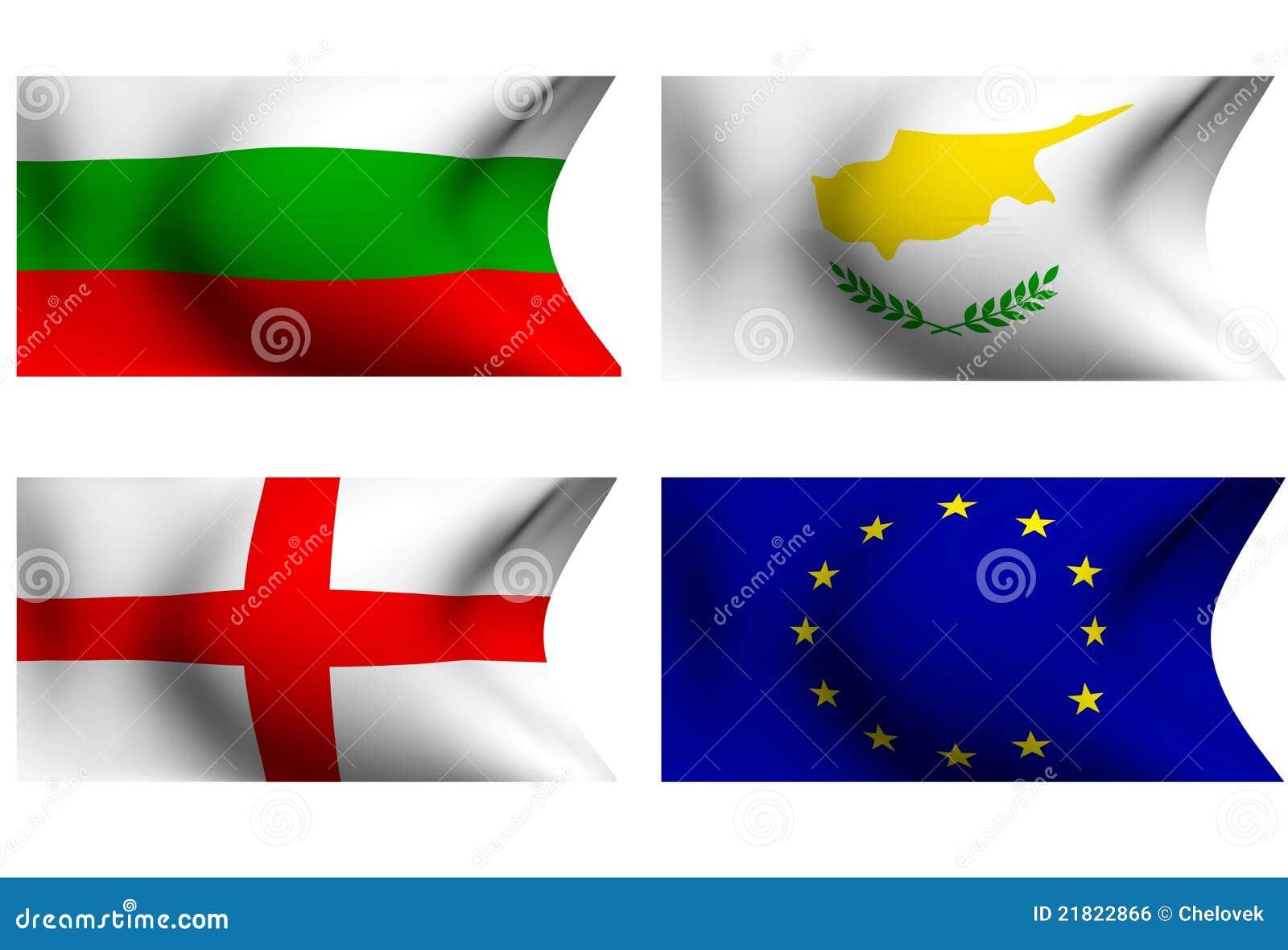 флаги eu Болгарии Кипра Англии