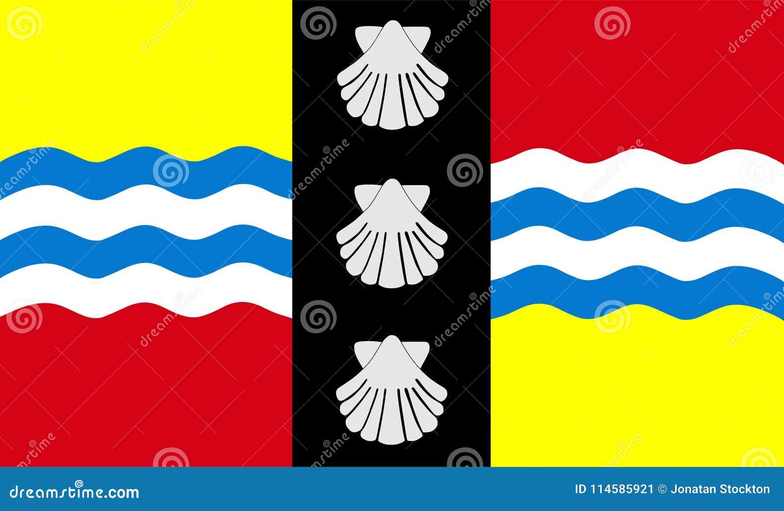 Флаг вектора графства Bedfordshire, Англии соединенное королевство