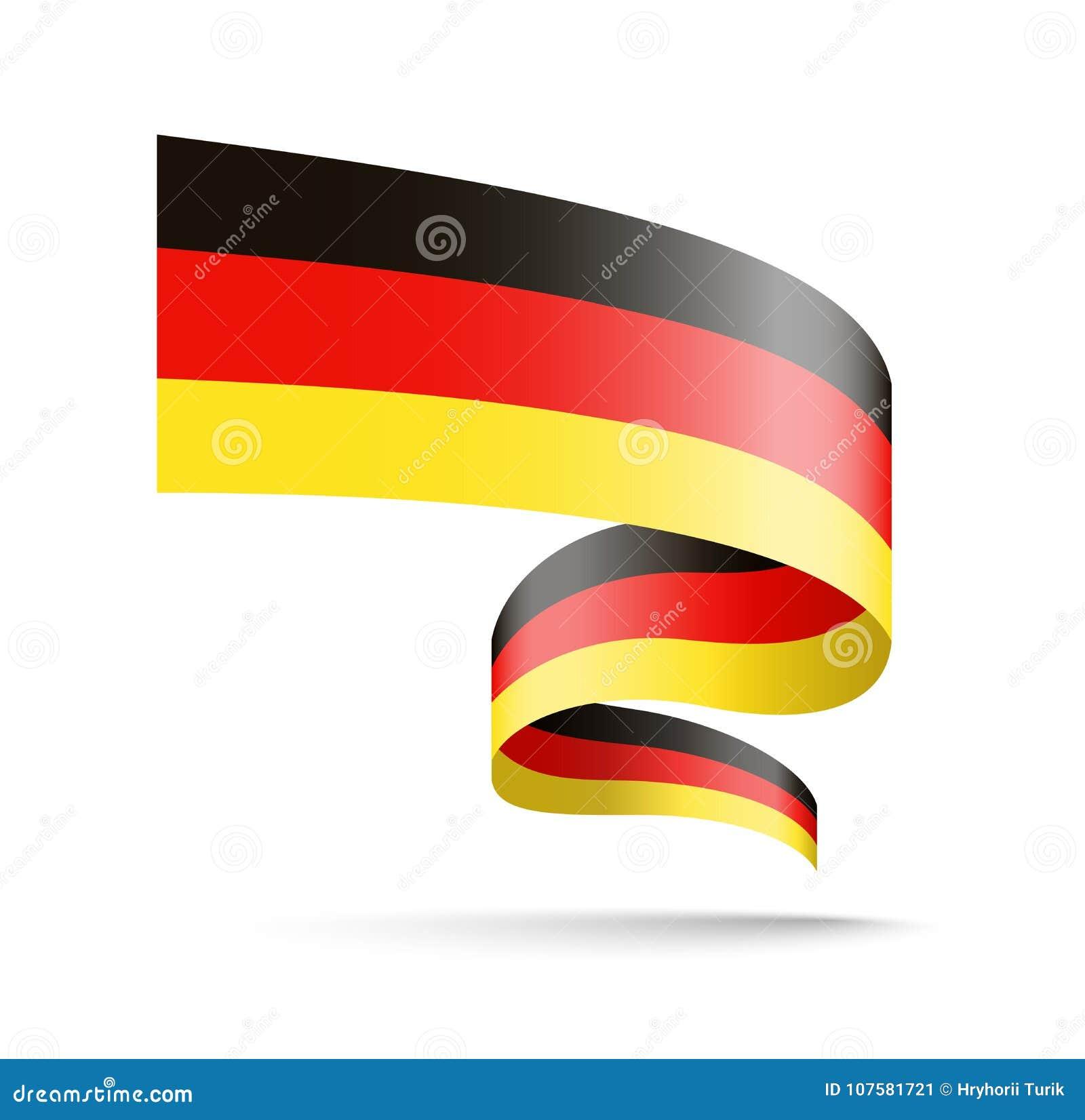 Флаг Германии в форме ленты волны