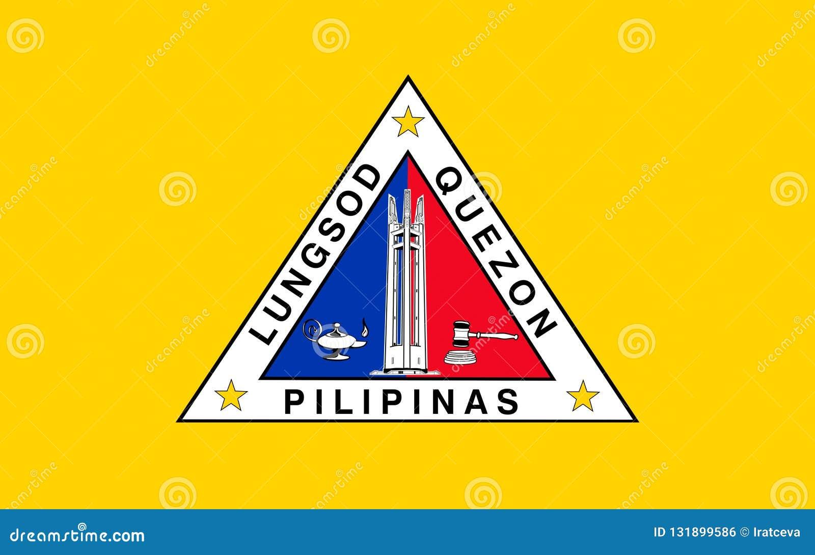 Флаг города Quezon, Филиппин