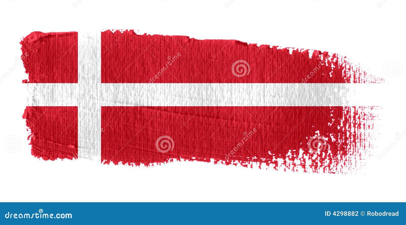 флаг Дании brushstroke
