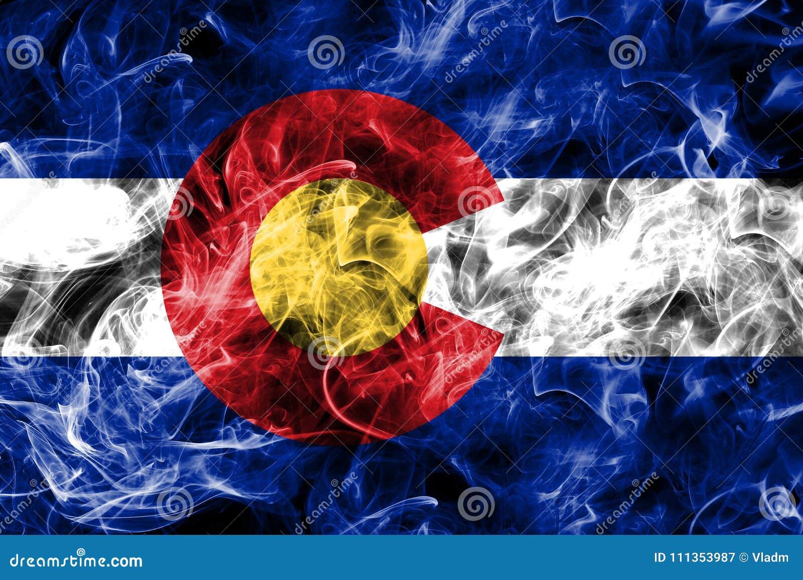 Флаг дыма положения Колорадо, Соединенные Штаты Америки