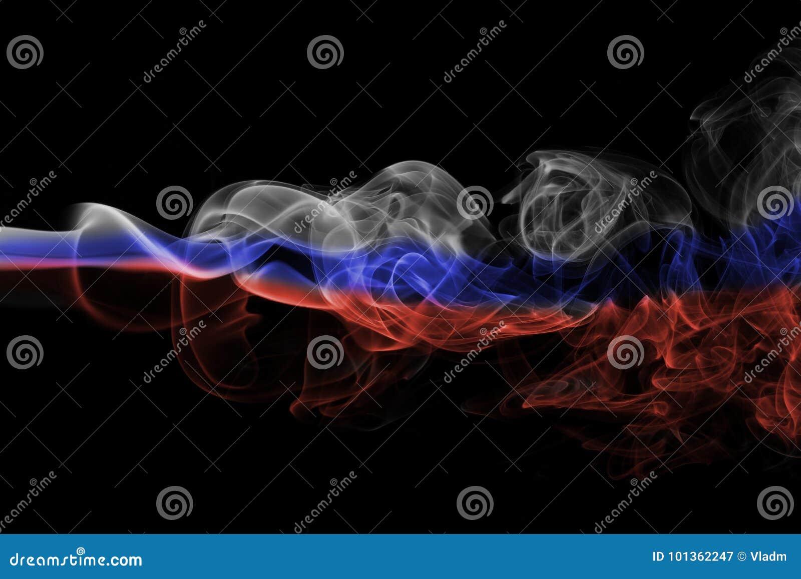 Флаг дыма России национальный