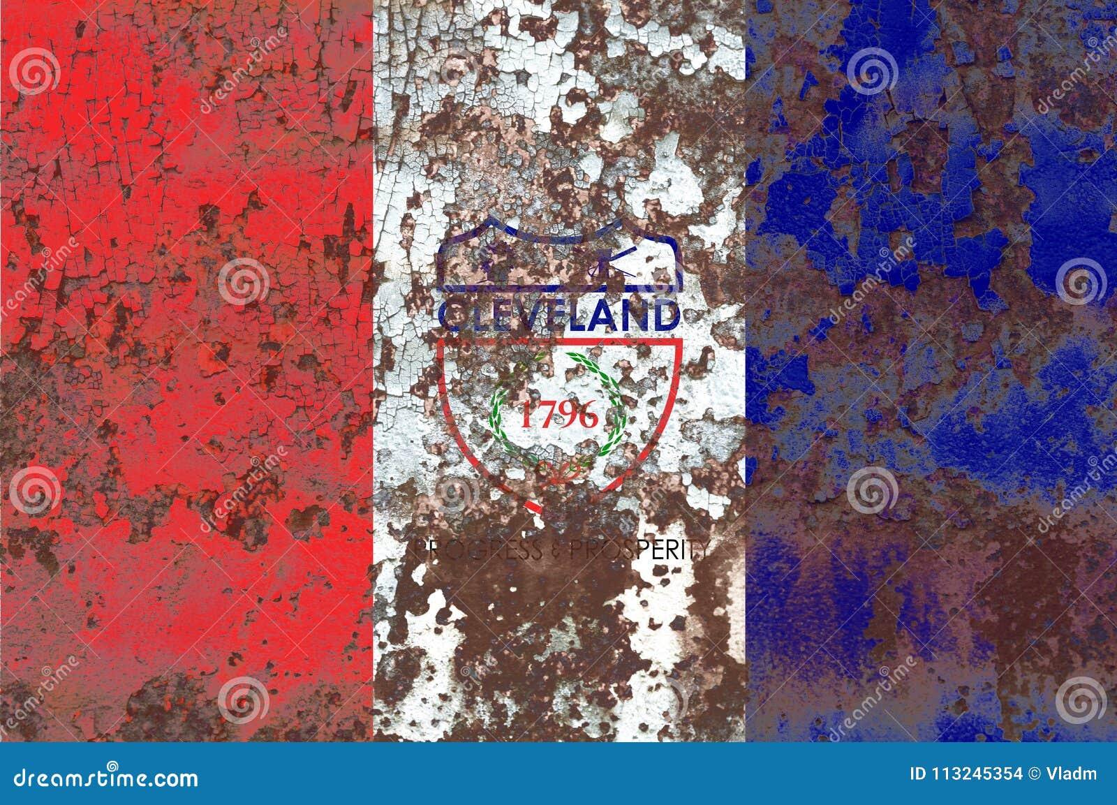 Флаг задымления городов Кливленда, положение Огайо, Соединенные Штаты Америки