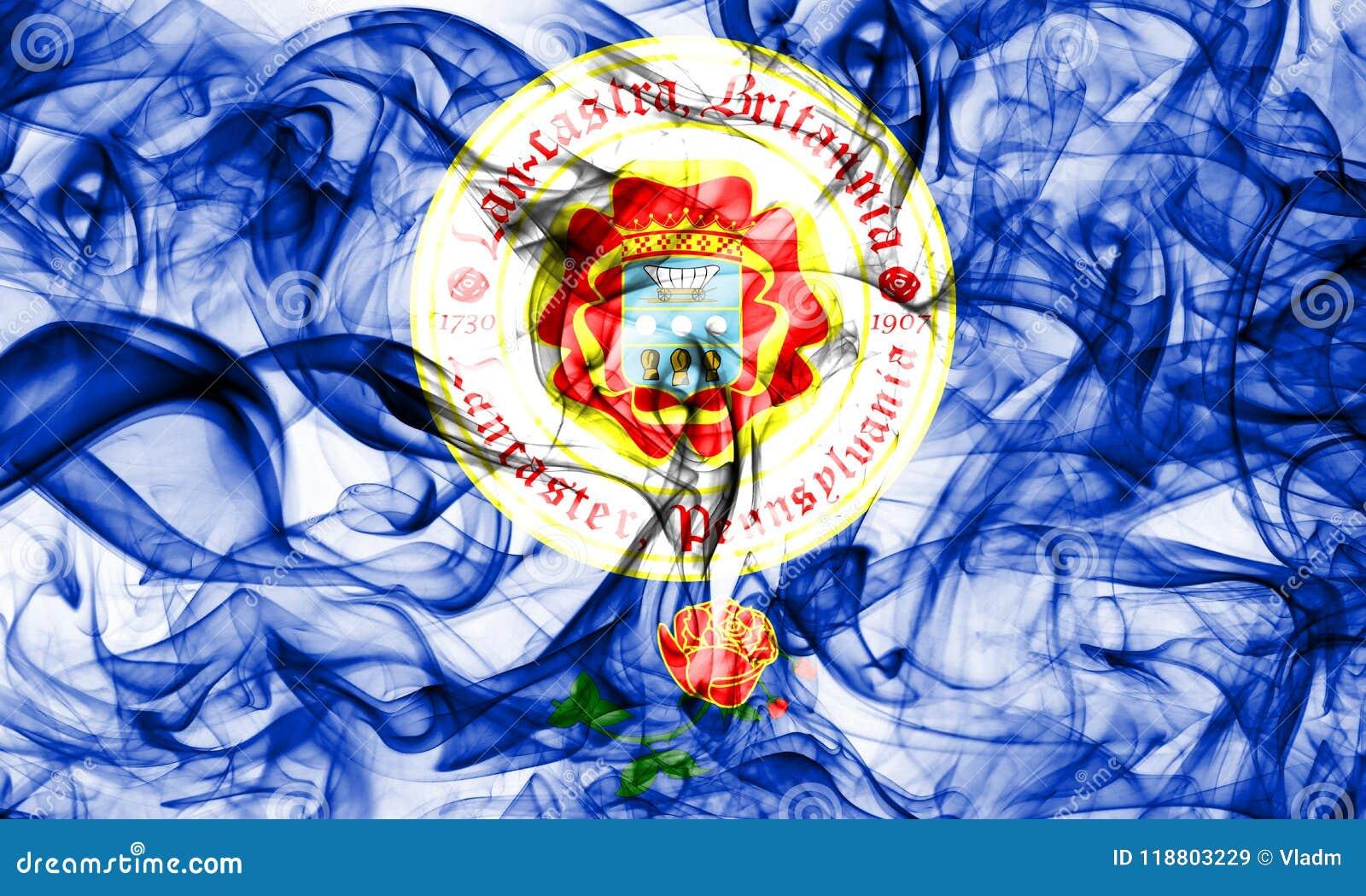 Флаг задымления городов Ланкастера, положение Пенсильвании, Соединенные Штаты Америки