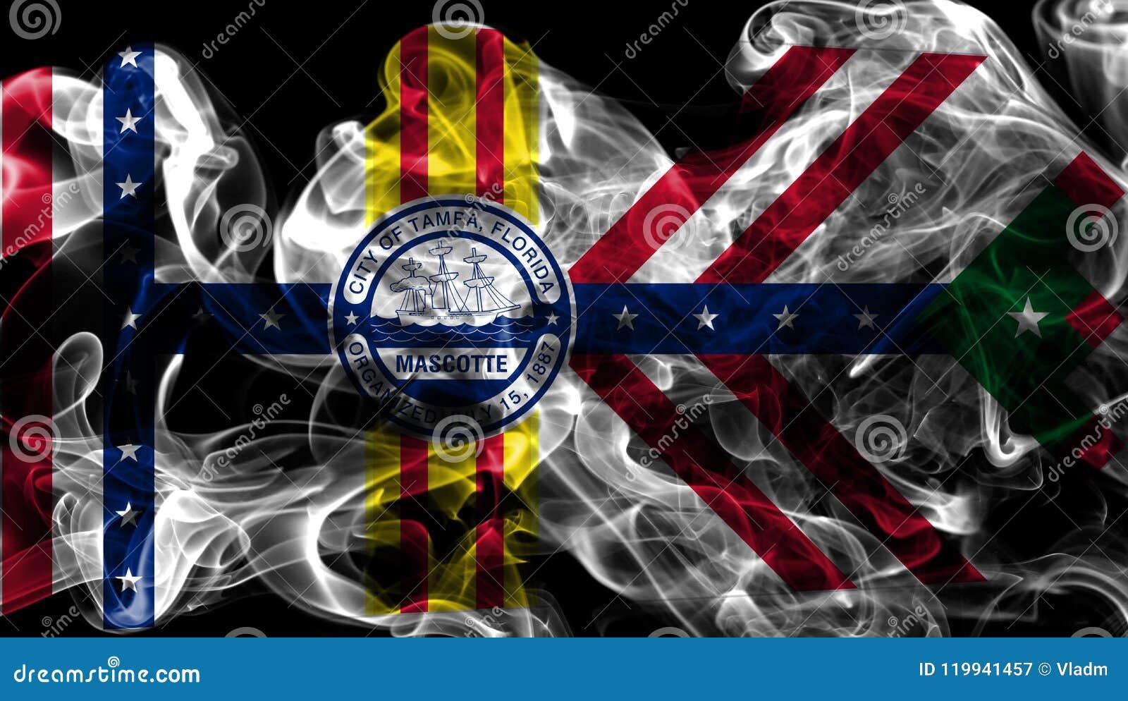 Флаг задымления городов Тампа, положение Флориды, Соединенные Штаты Америки