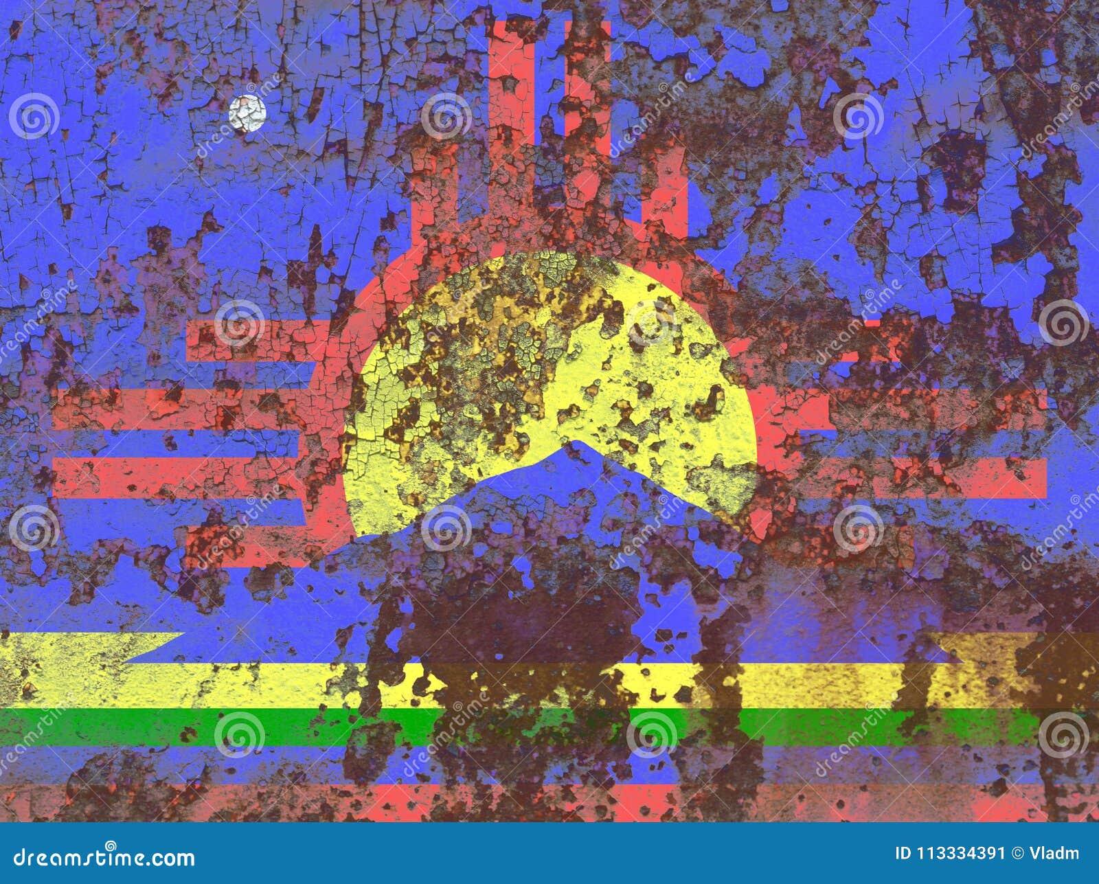 Флаг задымления городов Roswell, положение Неш-Мексико, Соединенные Штаты Amer