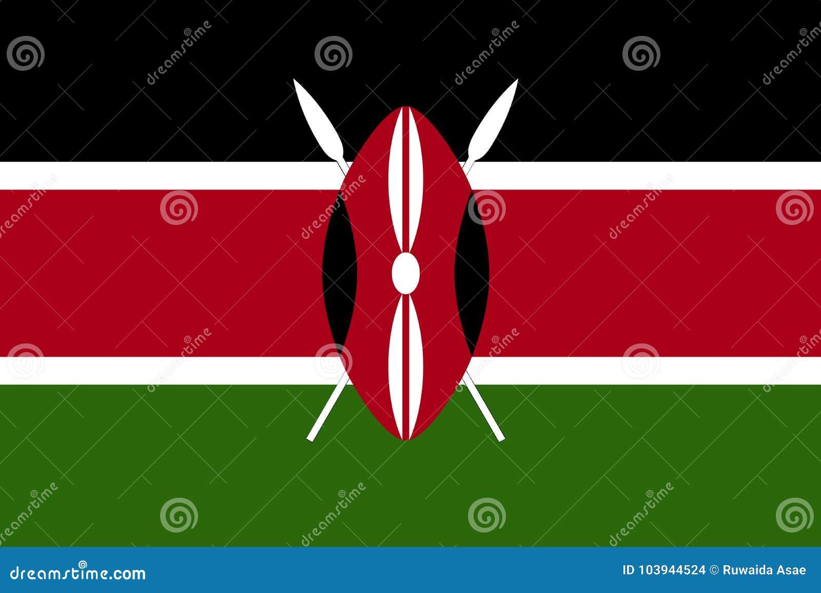 Флаг флаг Кении, Кении вектора