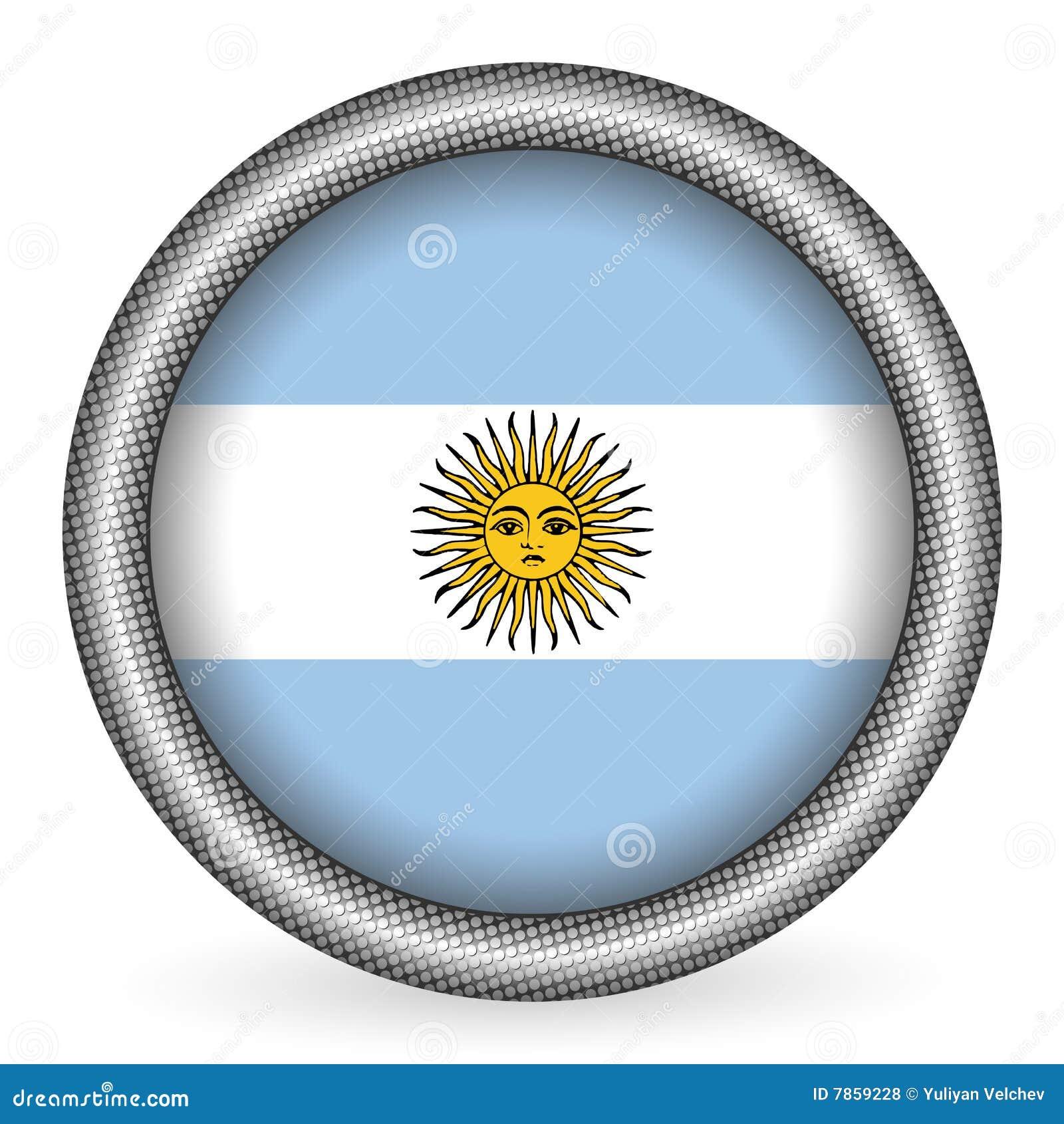 флаг кнопки Аргентины