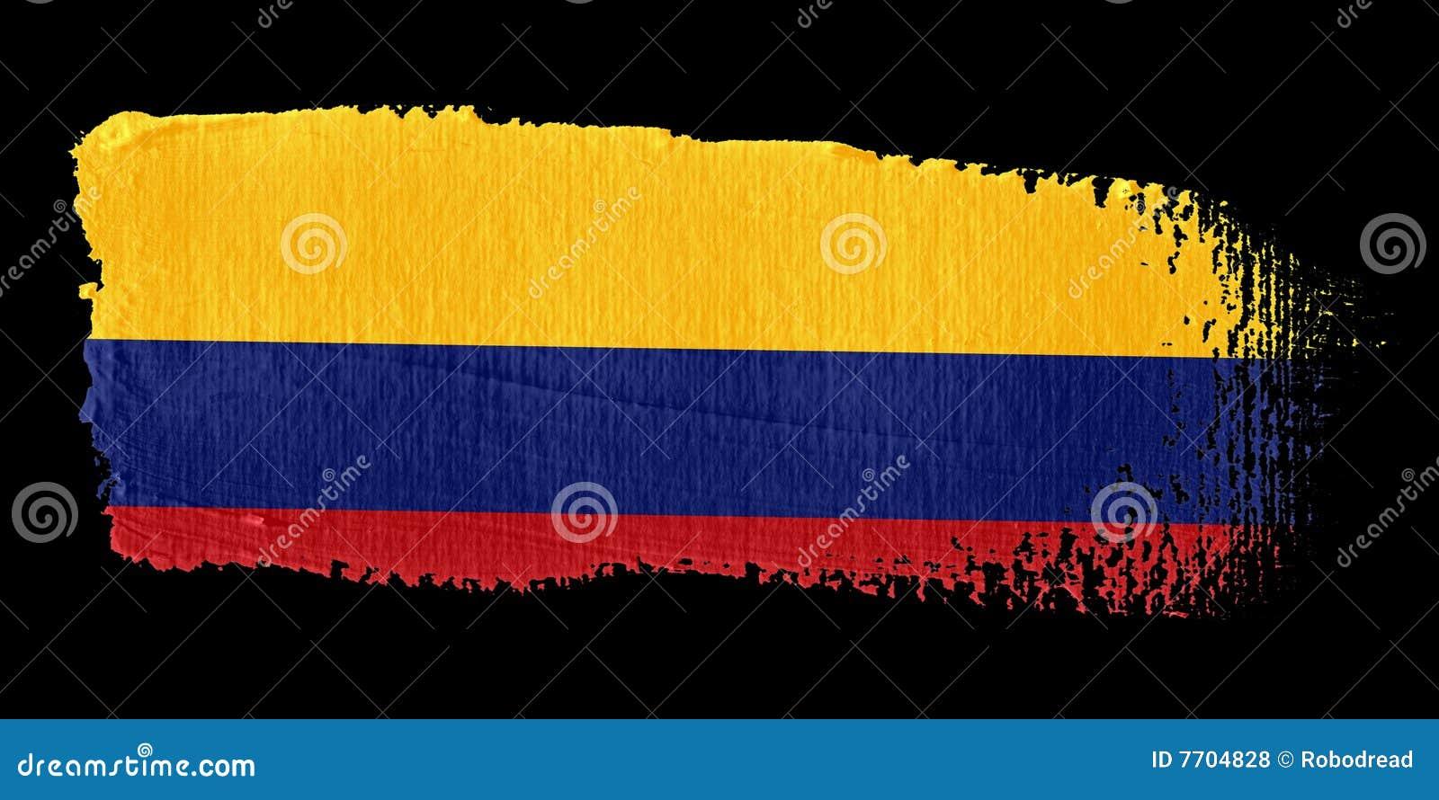 флаг Колумбии brushstroke