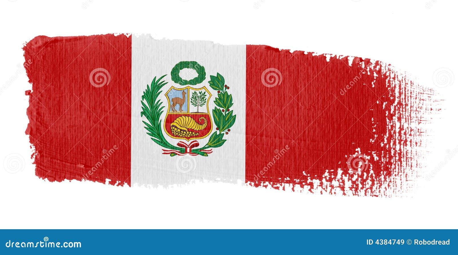 флаг Перу brushstroke