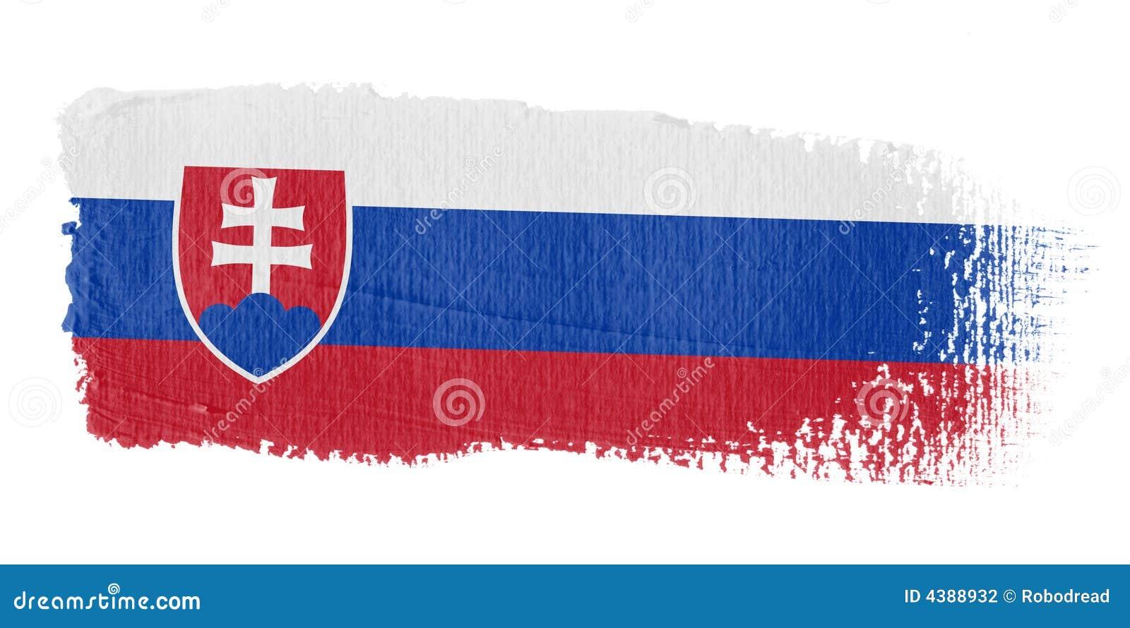 флаг Словакия brushstroke