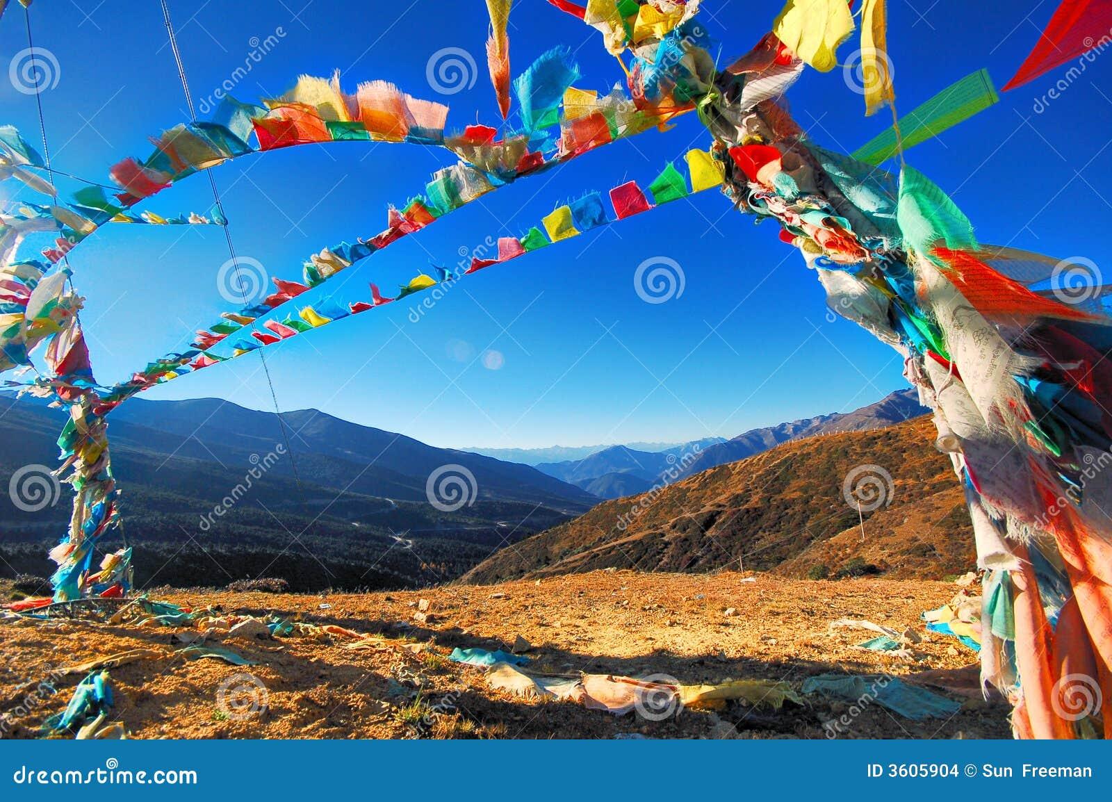 флаг Тибет