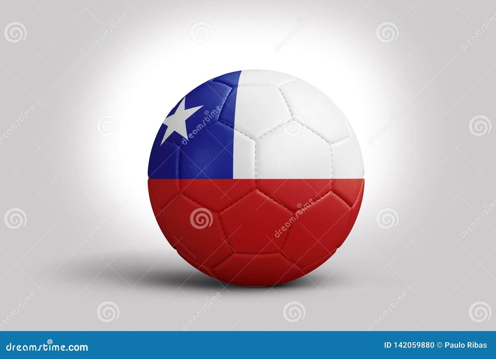 Флаг Чили на шарике, переводе 3d E