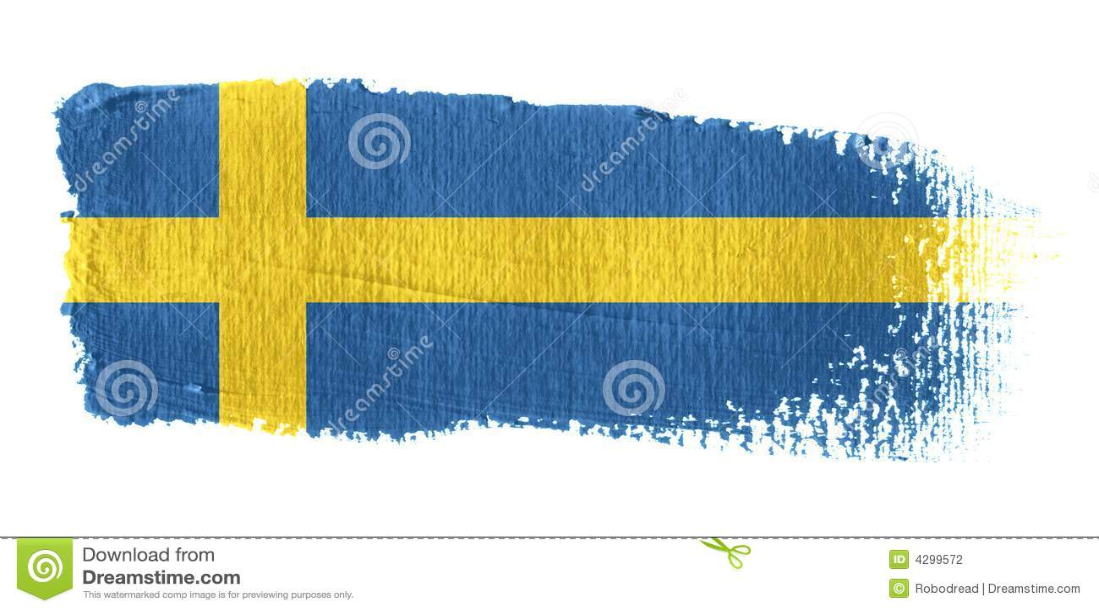 флаг Швеция brushstroke