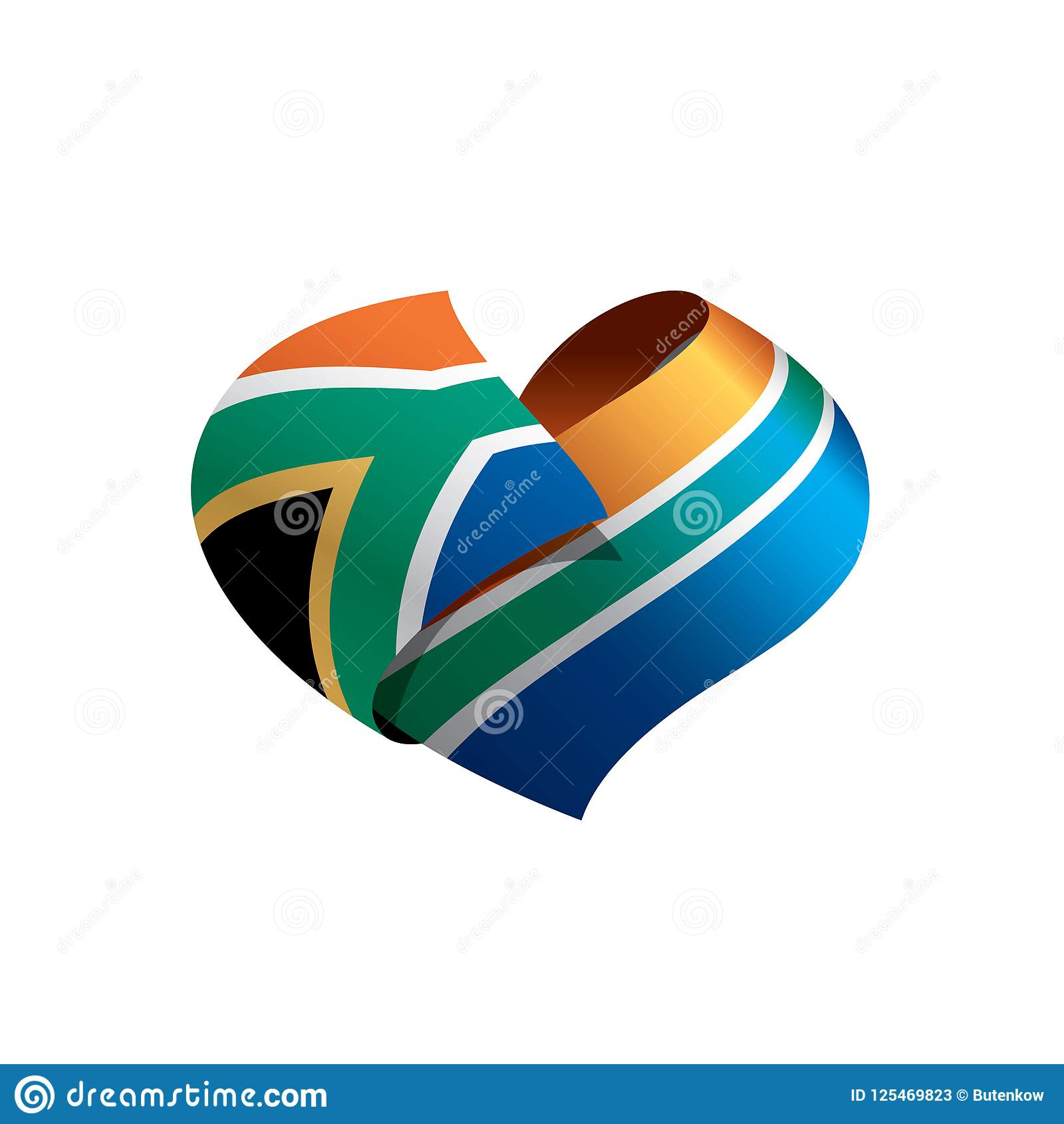 Флаг Южной Африки, иллюстрация вектора