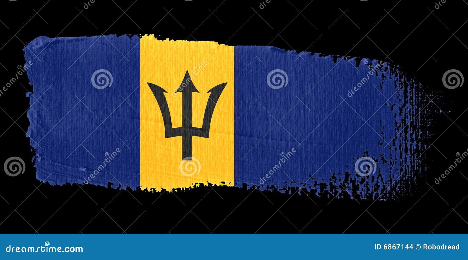 флаг brushstroke Барбадосских островов