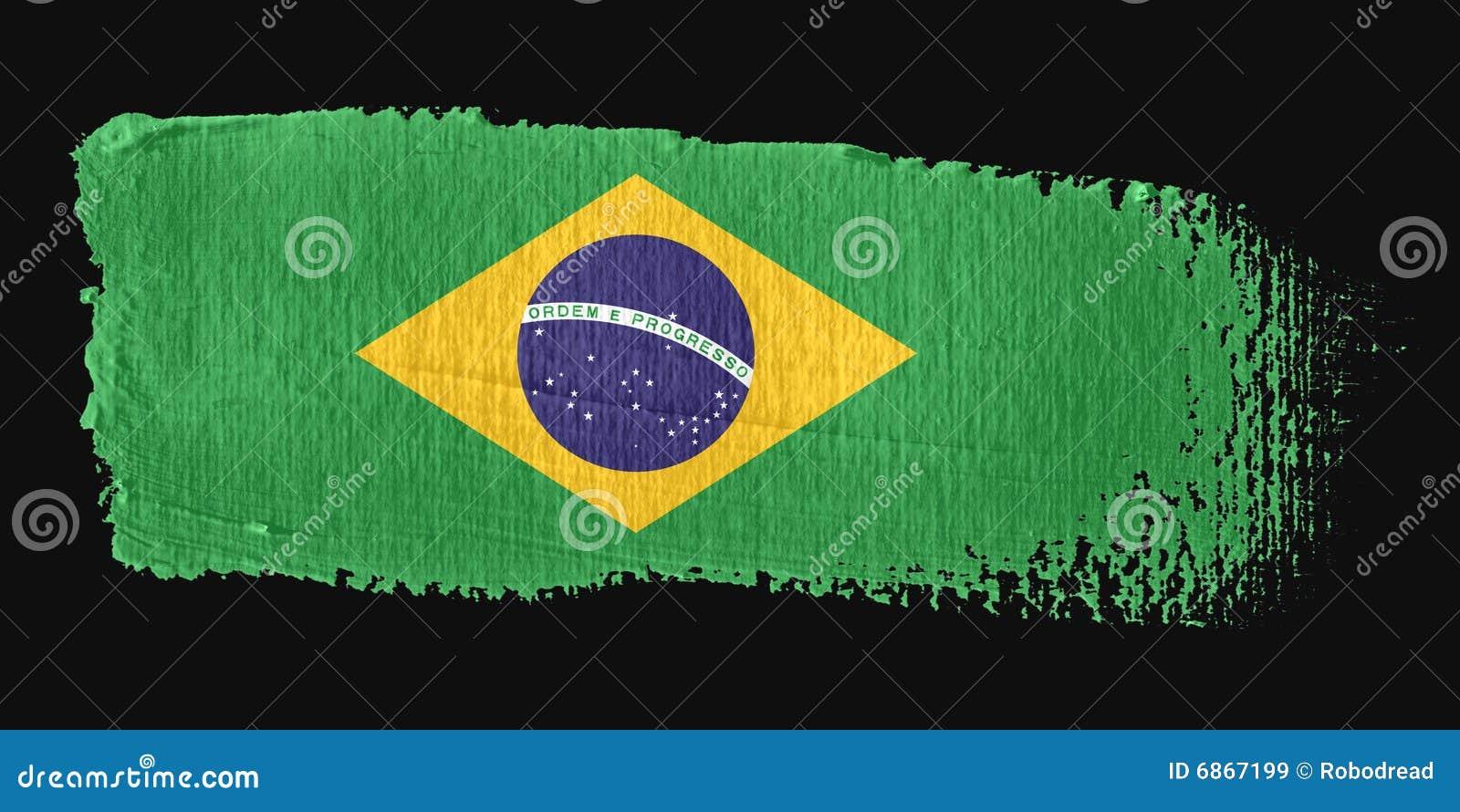 флаг brushstroke Бразилии
