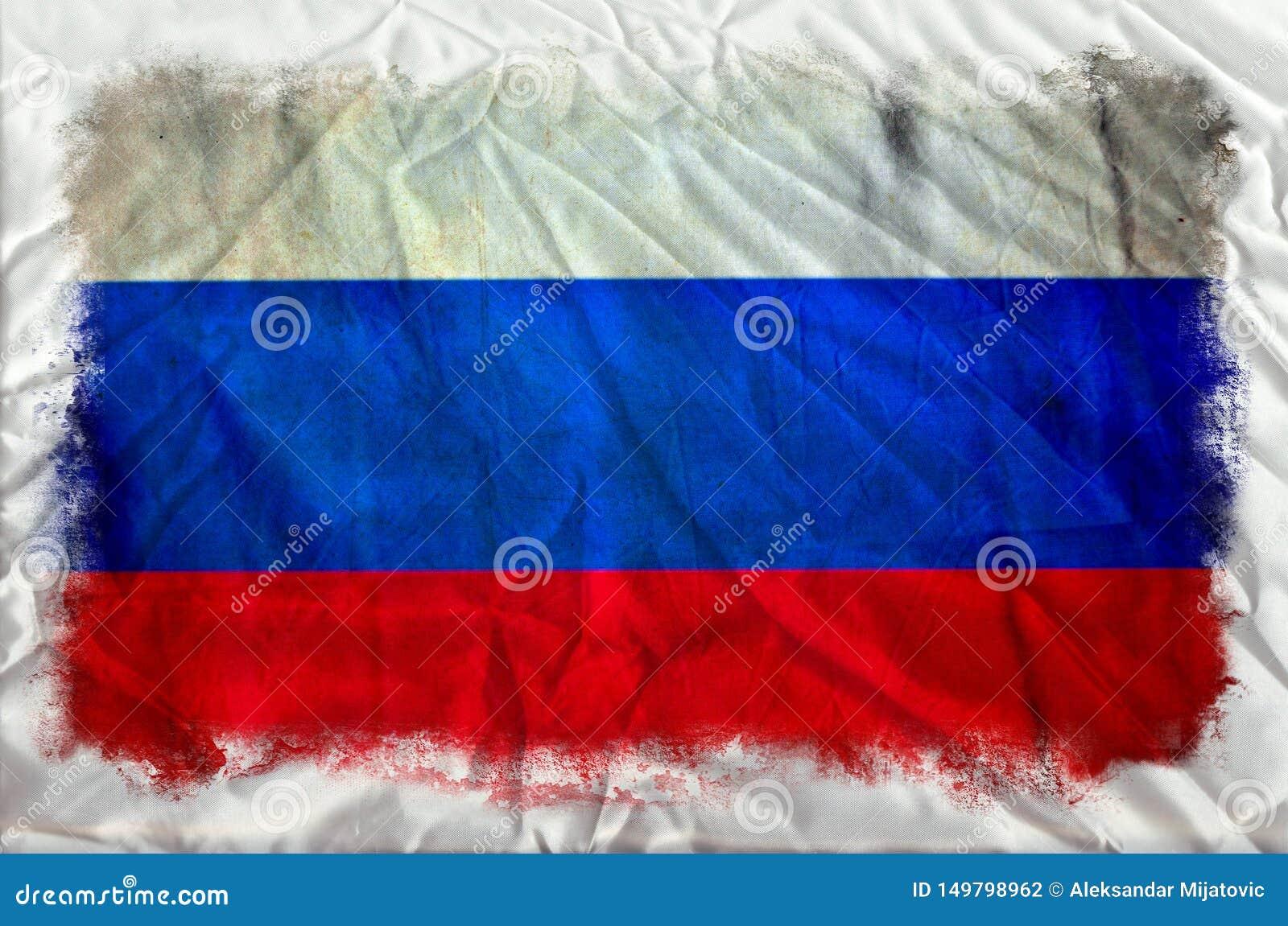 Флаг grunge России